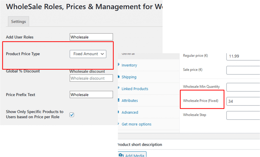 wholesale product pricing type woocommerce b2b store