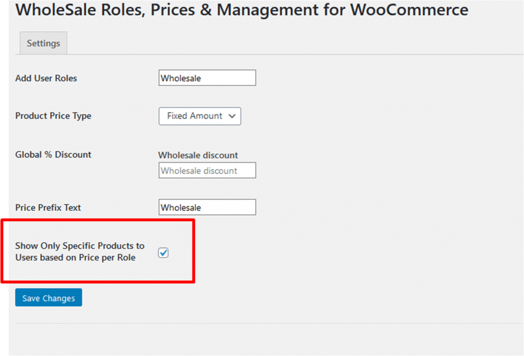wholesale product visibility limit per role woocommerce b2b store