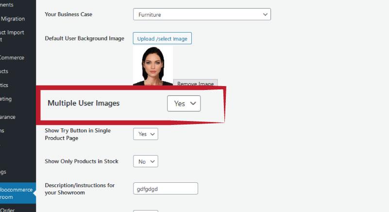 multiple user upload images-showroom woocommerce