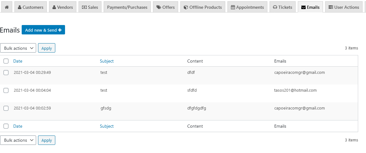 CRM ERP CHECK BULK PERSONAL EMAILS