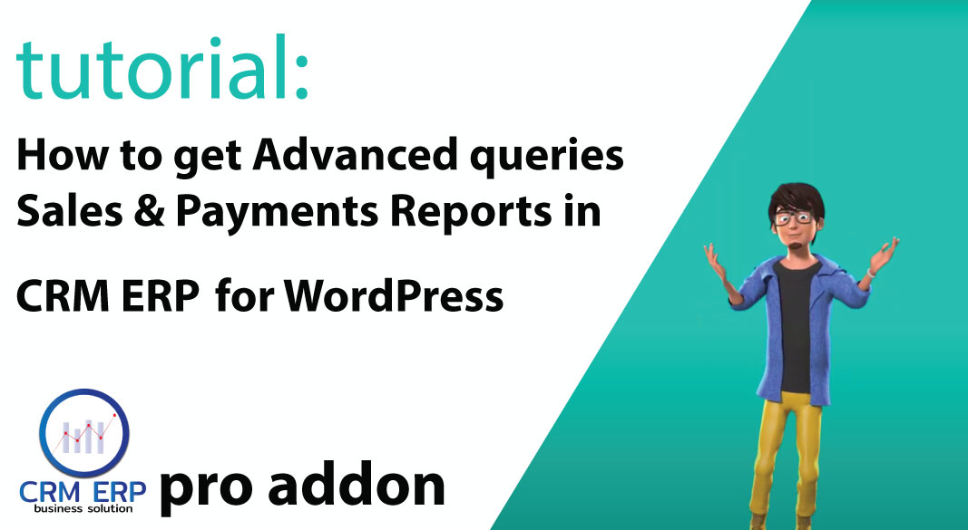 crm erp advanced sales payments reporting wordpress
